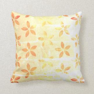 Gold autumn leaf throw cushion
