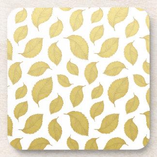 GOLD AUTUMN LEAVES - Coasters