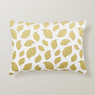 GOLD AUTUMN LEAVES - Cotton Accent Pillow