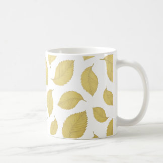 GOLD AUTUMN LEAVES - Mug