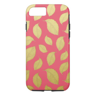 GOLD AUTUMN LEAVES - Phone case