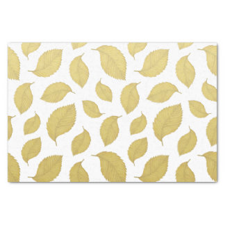 GOLD AUTUMN LEAVES - Tissue Paper