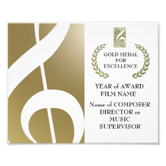 Gold Award Certificate Photo