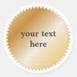Gold Award Sticker - Customisable
