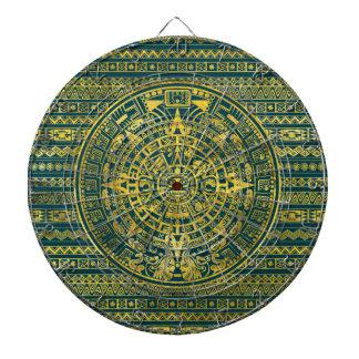 Gold  Aztec Inca Mayan Calendar Dartboard