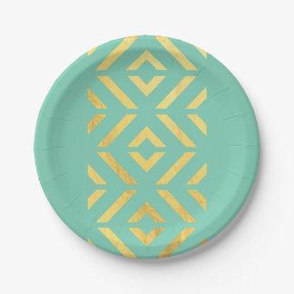Gold Aztec Paper Plate