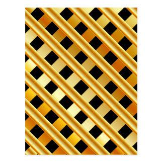 Gold background postcard