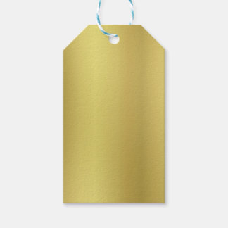Gold Background Template Gift Tags