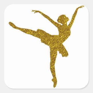 Gold Ballerina Sticker