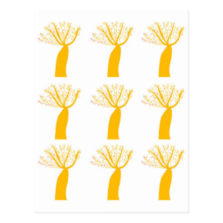 Gold Baobabs on white Postcard