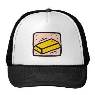 Gold Bar Mesh Hats