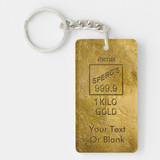 Gold Bar Key Ring