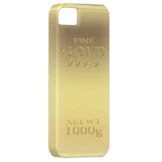Gold bar look - wow! iPhone 5 cover