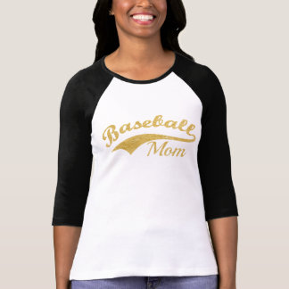 Gold Baseball Mom Text Personalized T-Shirt