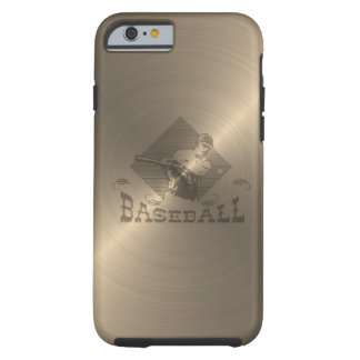 Gold Baseball Tough iPhone 6 Case