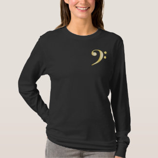 """Gold"" Bass Clef T-Shirt"