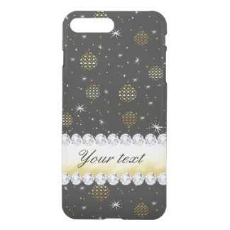 Gold Baubles Stars and Diamonds Bling Black iPhone 8 Plus/7 Plus Case