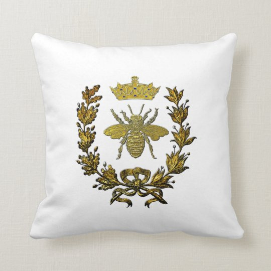 Gold Bee Wreath Crown & Your Colour Cushion