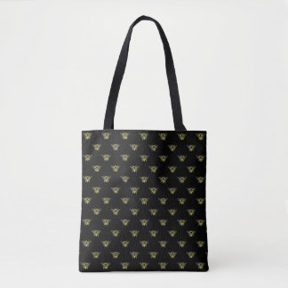 Gold Bees Your Background Color Tote Bag