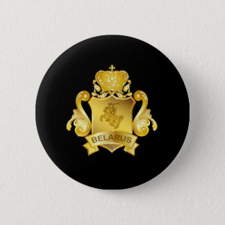 Gold Belarus 6 Cm Round Badge