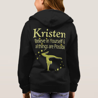 GOLD BELIEVE IN YOURSELF PERSONALIZED HOODIE