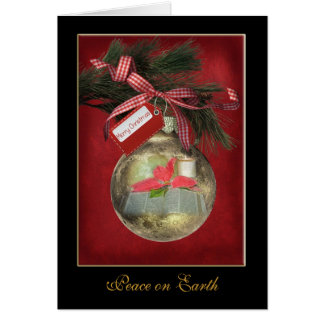 Gold Bible Ornament Card