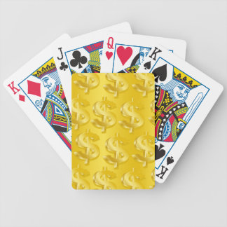 $ Gold $ Bicycle Playing Cards
