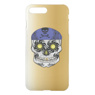 Gold Biker Candy Skull Iphone Case