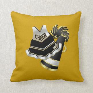 Gold Black and White Cheerleader Cushion