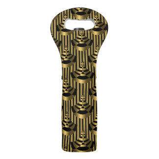 Gold & Black Art Deco | Classy Wine Bag