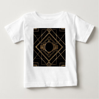 gold, black,art deco, metallic,pattern,vintage,chi baby T-Shirt