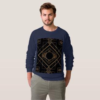 gold, black,art deco, metallic,pattern,vintage,chi sweatshirt