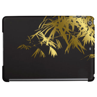 Gold & Black Bamboo Leaves Zen Asian iPad Case
