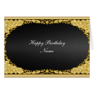 "Gold Black Card ""Happy Birthday"""