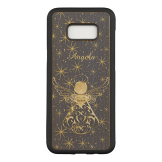 : Gold/Black Christmas Angel of Grace Carved Samsung Galaxy S8+ Case