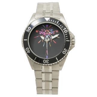 Gold Black Colorful Starburst Watch