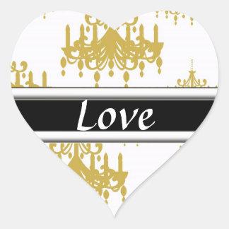 Gold & Black Customizable Matching Love Stickers
