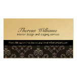 Gold & Black Damask Business Card