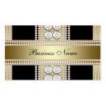 Gold Black Diamonds Black Business Card