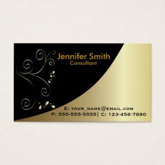 Gold Black Elegant Business Card
