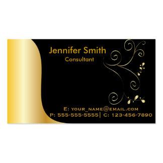 Gold Black Elegant Template Pack Of Standard Business Cards