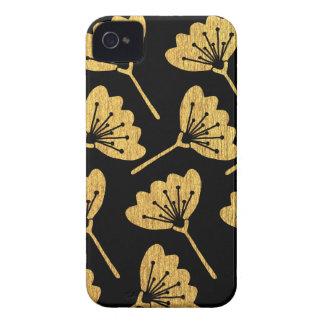 Gold & Black Floral Case-Mate iPhone 4 Cases