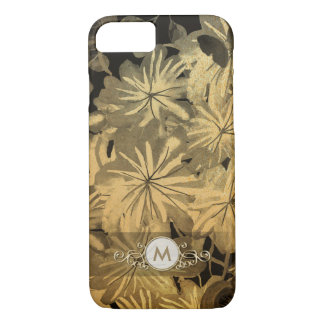 Gold & Black Floral Fancy Monogram Case for Her