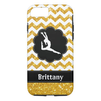 Gold Black Gymnastics Cell Phone Case