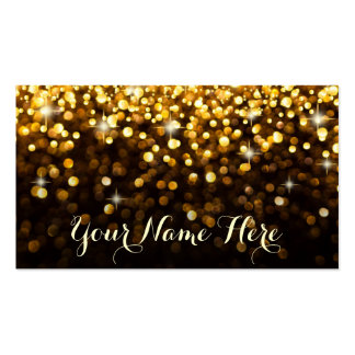 Gold Black Hollywood Glitz Glam Place Card Pack Of Standard Business Cards