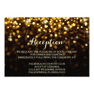 Gold Black Hollywood Glitz Glam Reception Card