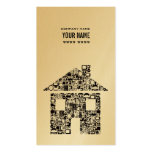 Gold & Black House Real Estate Business Card