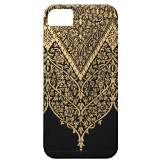 Gold Black Indian Motif Vintage Design Pattern Case For The iPhone 5