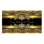 Gold Black Leopard Business Cards