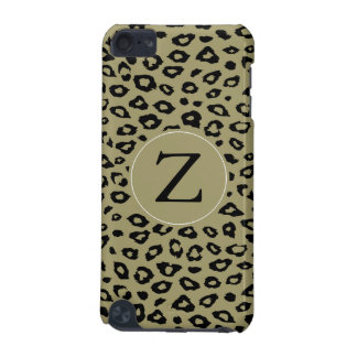 Gold Black Leopard Print Monogram iPod Touch 5G Cases
